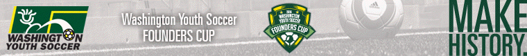 2016 Washington Youth Soccer Founders Cup banner
